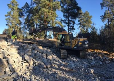 Sprängning för villagrund Åkersberga